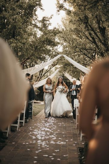 Walking down the aisle - Rose & Belle Photography