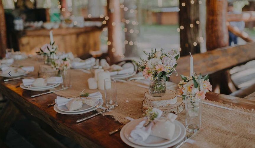 Beautiful table settings - Rose & Belle Photography