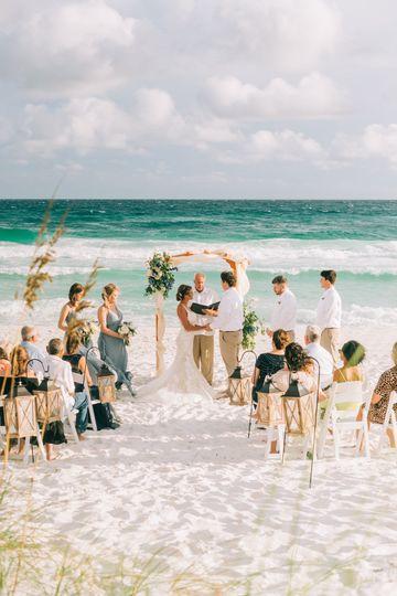Beach Ceremony in Destin, FL