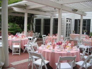 A lovely ceremony or reception setting featuring our lush landscaping, fountain grotto and our...