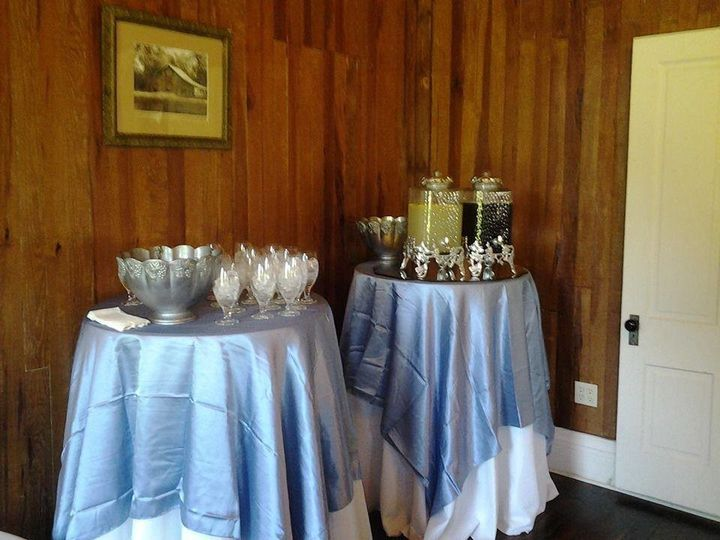 Silver table cloths