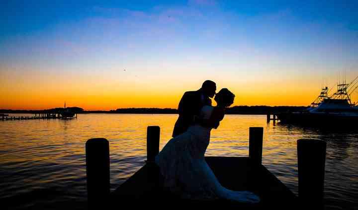 Rim Light Wedding Photography