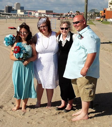 Beach Wedding, North Beach, Corpus Christi, TX