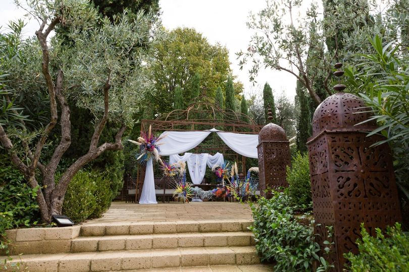 Coloured mediterranean wedding