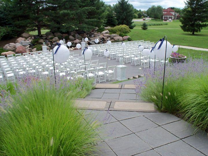 Tmx 1350325573591 WaterfallGardenPatioCeremony Ames, IA wedding venue