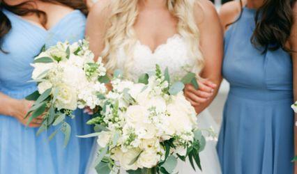 Blue Posy Floral Design