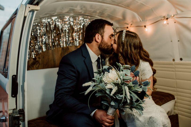 Kissing inside the bus