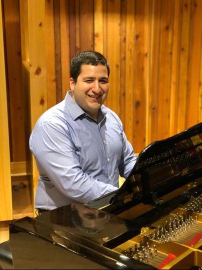Nick at the piano