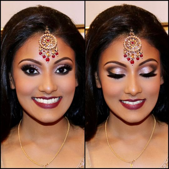 Reception makeup look.