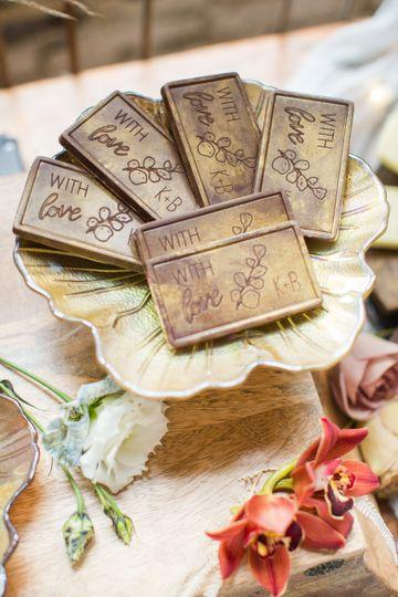 Engraved chocolate bars