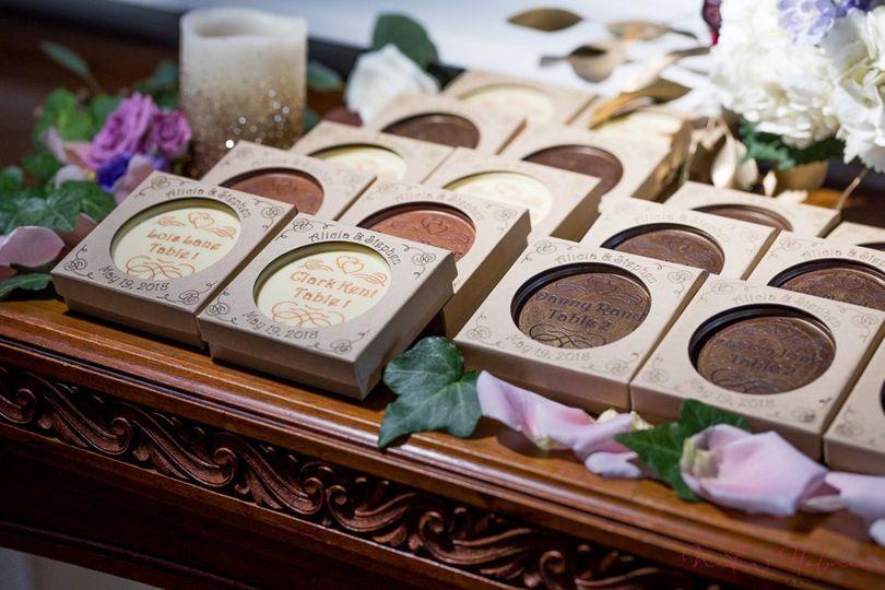 Chocolate Escort Cards