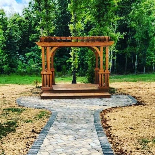 Ceremony option in the meadow