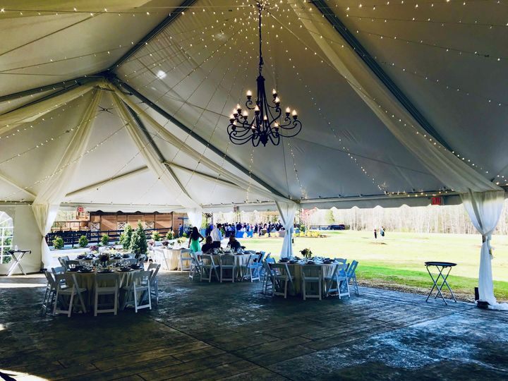Tent with Lighting/Draping