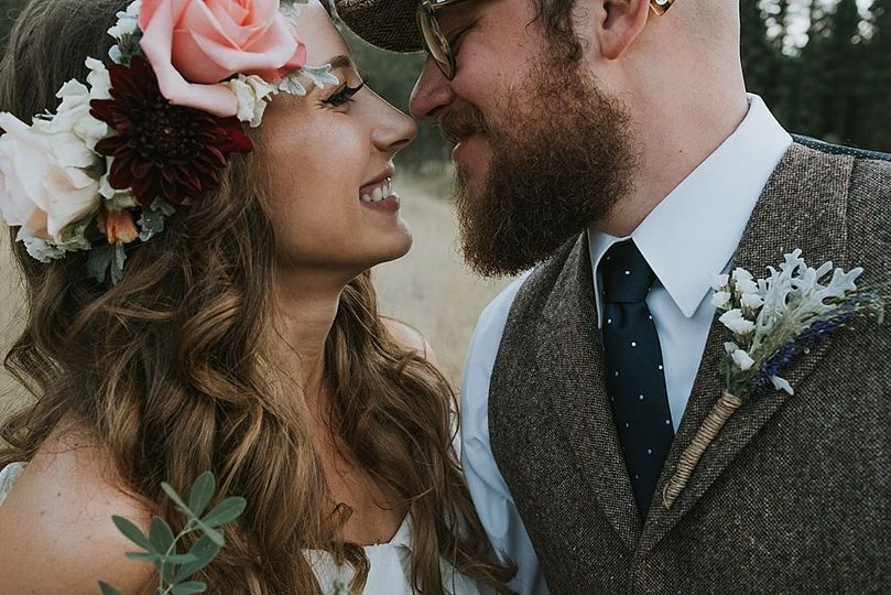Boho glam wedding