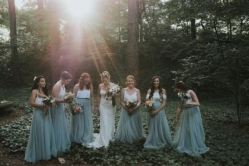 Elegant candids of bridesmaids