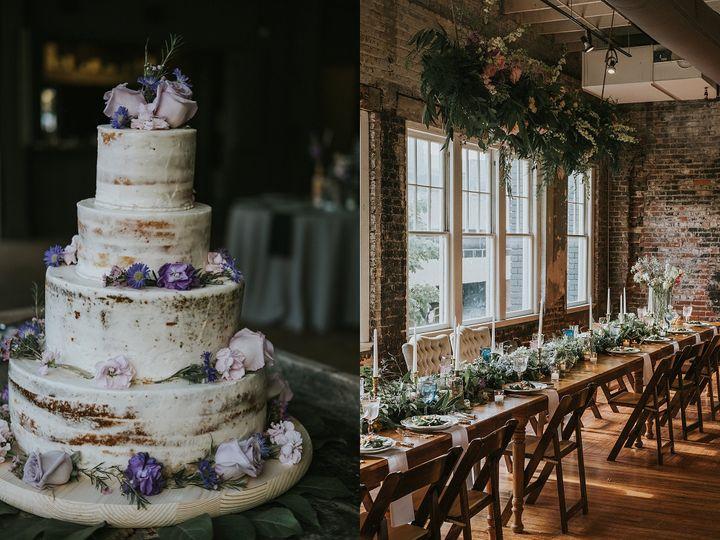Colorful urban rustic wedding