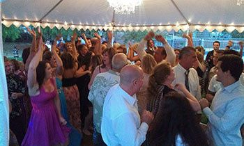 AGAIN crowded dance floor and when the hands are up YOU KNOW ITS  a HIGH ENERGY PARTY (reception)!
