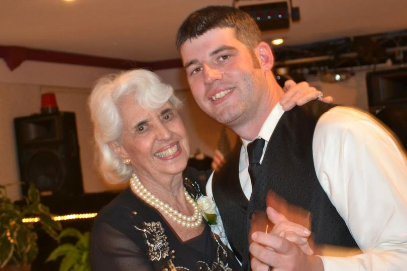 Groom and grandmother