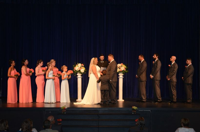 A ceremony in the theatre