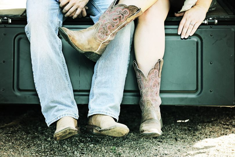 Showing off cowboy boots