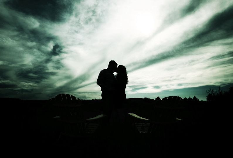 Romantic photo as the sun sets