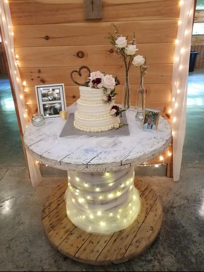 Decorated cake table