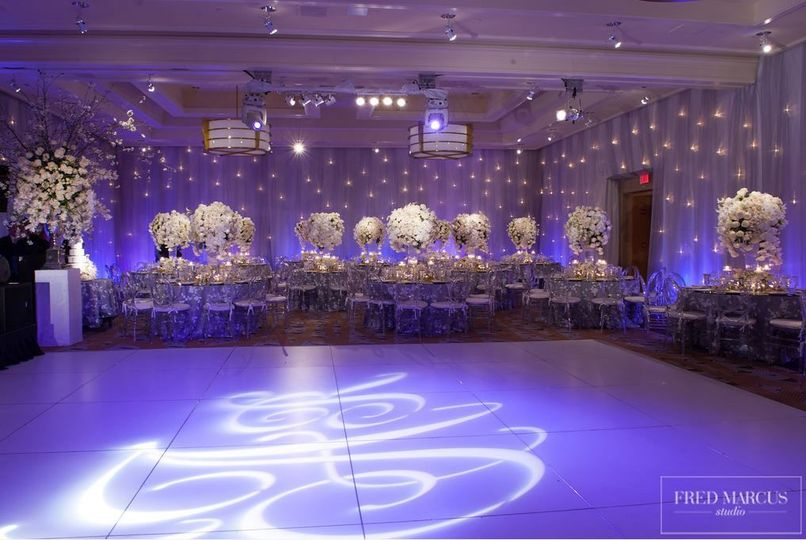Led light decor on the dance floor