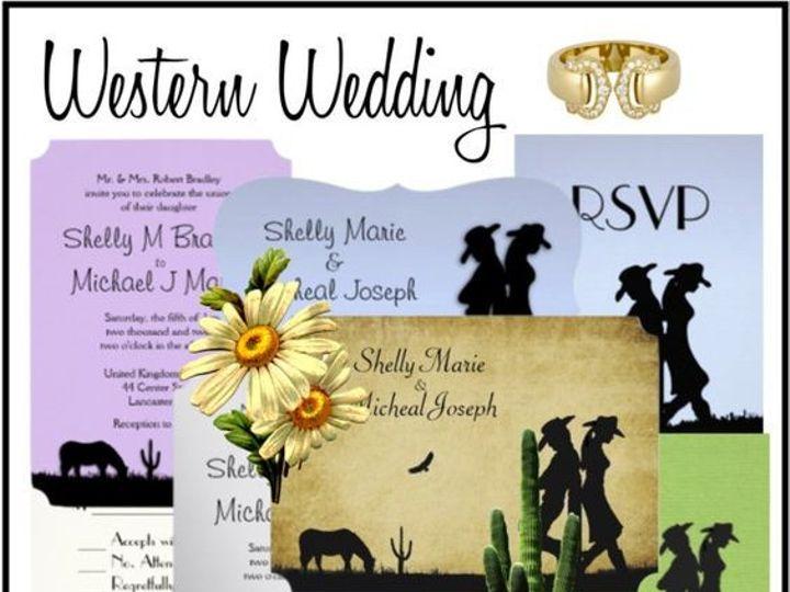 Tmx 1484012269290 Western Wedding Ringtown wedding invitation
