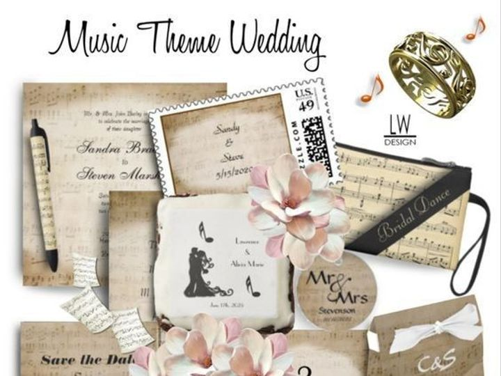 Tmx 1484019695 D0e5b76100baecef 1484018487210 Music Wedding Theme Suite Ringtown wedding invitation