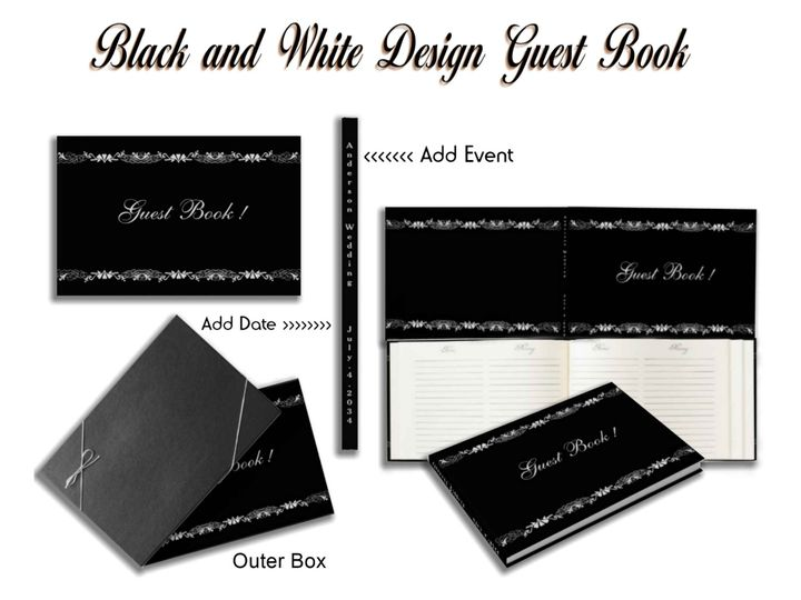 Tmx Black And White Guest Book 51 957767 1558202342 Ringtown wedding invitation