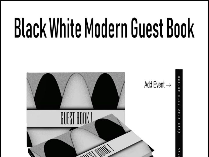Tmx Black And White Modern Guest Book 51 957767 1558203166 Ringtown wedding invitation