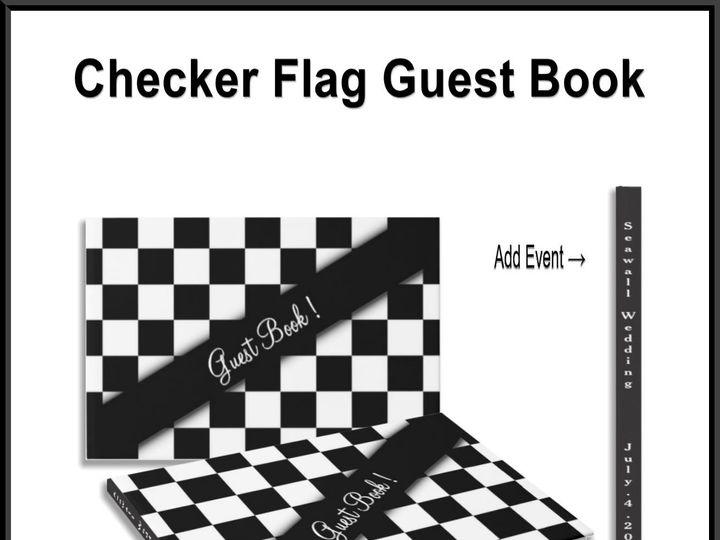 Tmx Checker Flag Guest Book 51 957767 1558203350 Ringtown wedding invitation