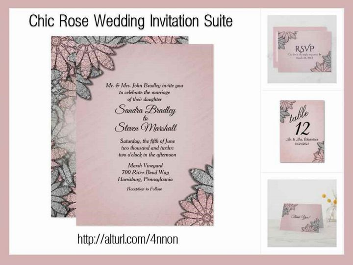 Tmx Chic Rose Wedding Invitations 51 957767 1558202434 Ringtown wedding invitation