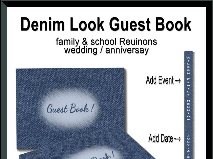 Tmx Denim Guest Book 51 957767 1558202484 Ringtown wedding invitation
