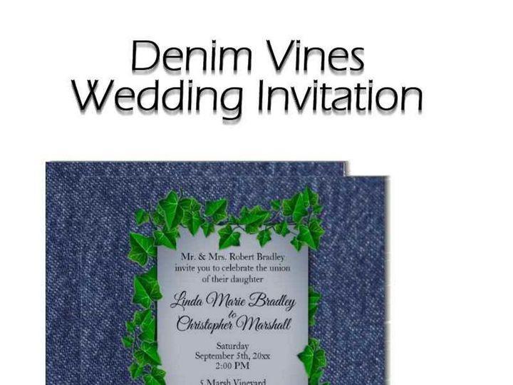 Tmx Denim Vines Wedding Invitation 51 957767 1558203122 Ringtown wedding invitation