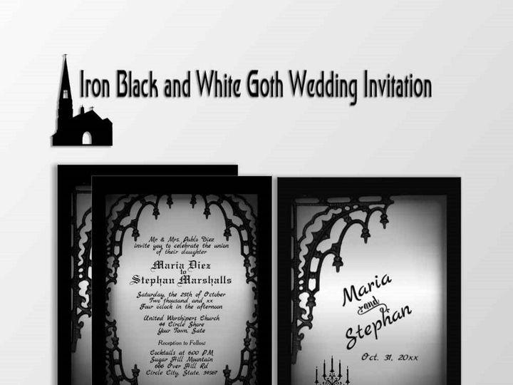 Tmx Goth Theme Wedding Invitations 51 957767 1558202801 Ringtown wedding invitation