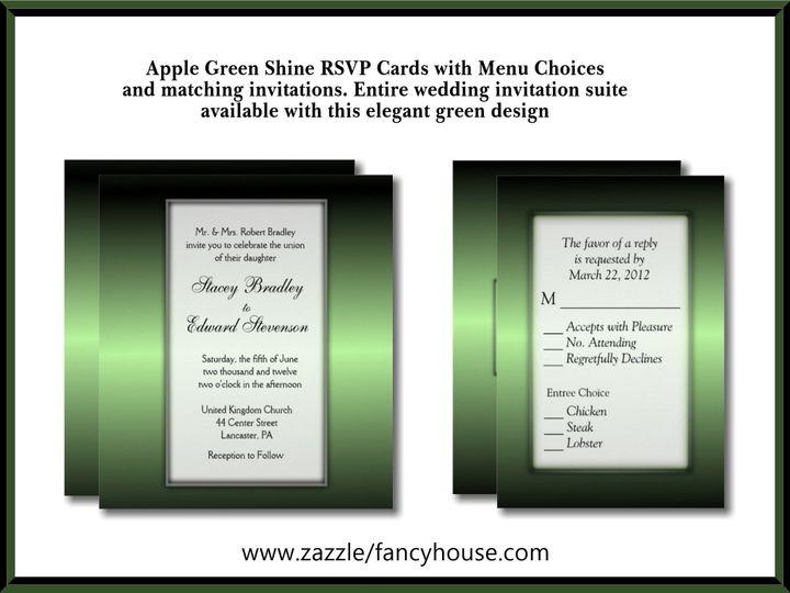 Tmx Green Apple Wedding Invitation 51 957767 1558202708 Ringtown wedding invitation