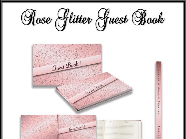 Tmx Rose Glitter Guest Book 51 957767 1558203240 Ringtown wedding invitation