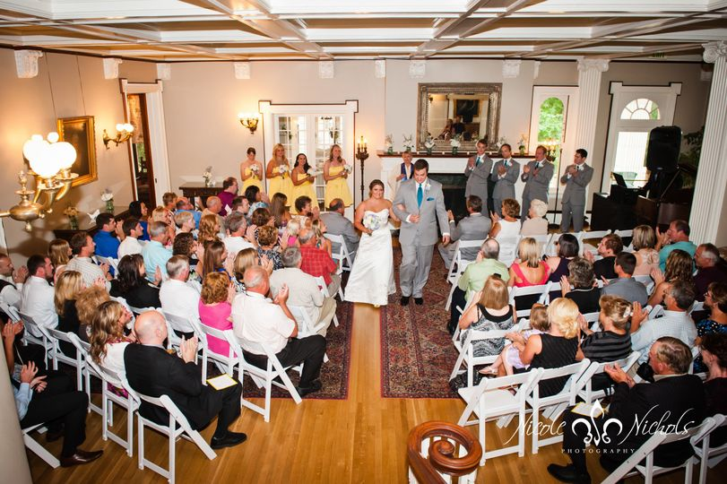 Indoor ceremonies are just as amazing as outdoor ceremonies making this the perfect location for any...