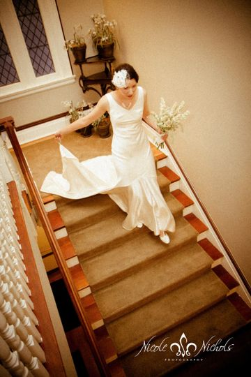 Grand staircase perfect for dramatic entrances or as an aisle