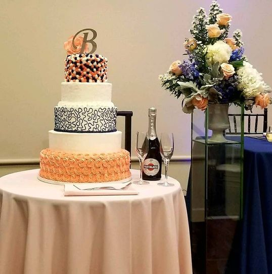 Scratch bakery wedding cake