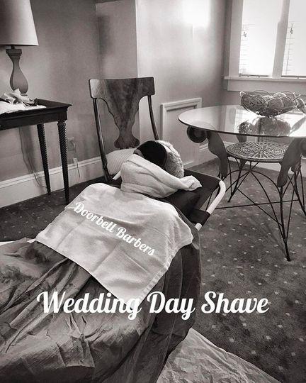 Wedding day shave