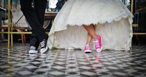 Newlyweds in chucks