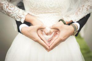 Couple heart hands