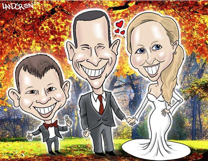 IPad gift caricature four