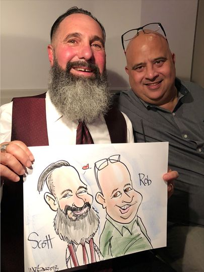 Live color wedding caricature six