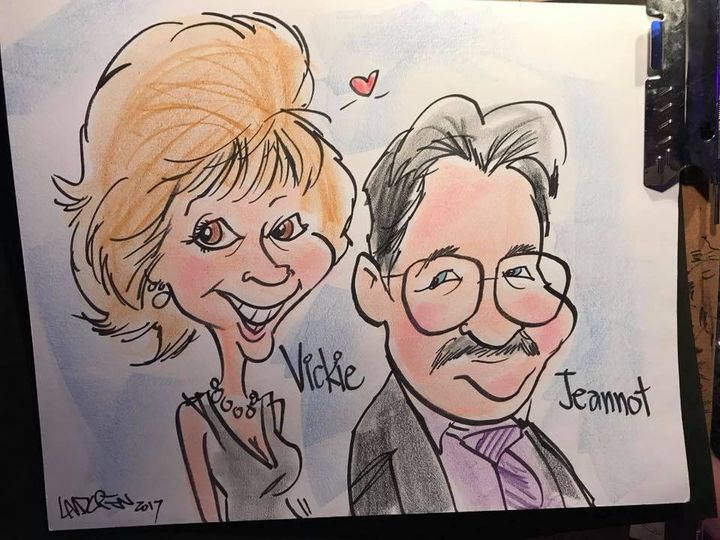 Live color wedding caricature eight