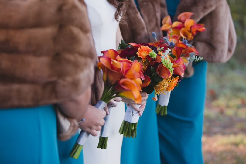 bouquets sideways