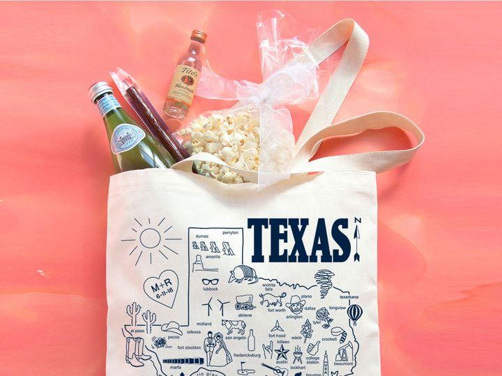 Tmx Knot Texas Wedding Maptote Square 51 1061867 1559144963 Brooklyn, NY wedding favor