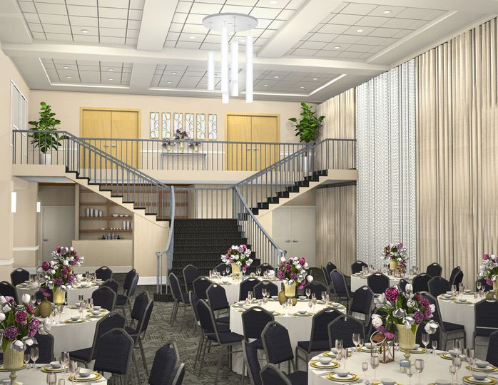 Wedding Reception View of Grand Staircase